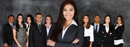 ビジネスマンや一緒に働く女性のグループ 写真素材