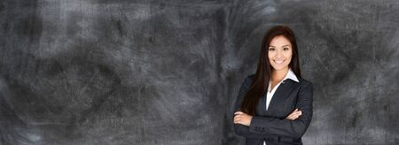 company job: Confident businesswoman who is ready for work