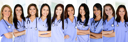 Nurses who are working their shift in a hospital Stockfoto