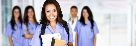 Nurse who is studying to get a job