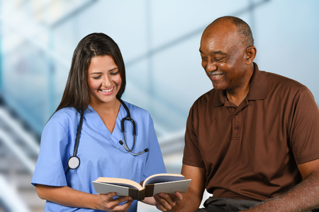 doctor patient: Nurse who is working her shift in a hospital