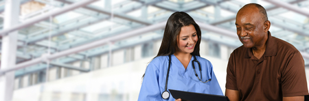 patient care: Nurse who is working her shift in a hospital