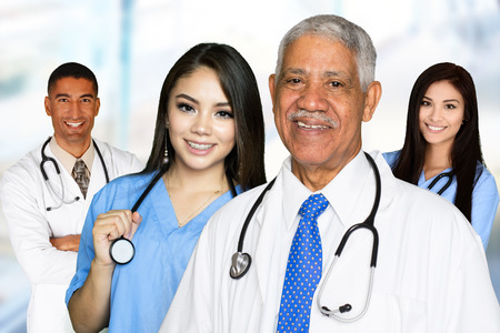 Medical team of doctors and nurses in a hospital Stock Photo