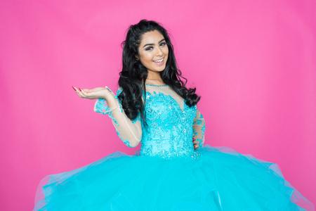 Teen Woman Posing In a Fancy Dress