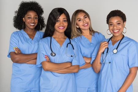 Large group of female nurses working together Stock fotó