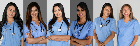 Group of Indian nurses working in the hosptial 写真素材