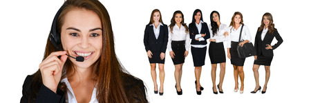 A group of diverse businesswomen working at their job Imagens