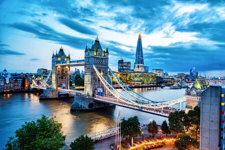 View of the Tower Bridge in London England