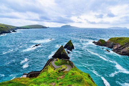 Slea Head Drive ocean near Dingle Ireland during the summer