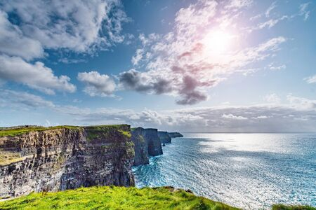 Cliffs of Moher in Ireland Before the Sunset Zdjęcie Seryjne