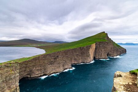 Faroe Islands nature shot in the summer months Banco de Imagens