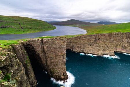 Faroe Islands nature shot in the summer months 스톡 콘텐츠