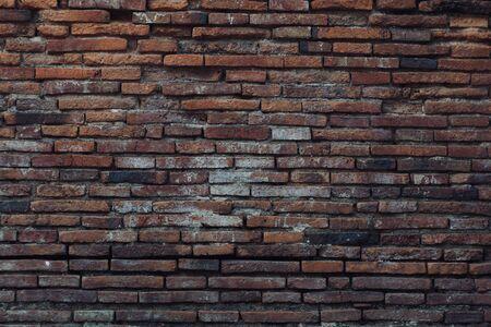 old brick wall in ancient Ayutthaya