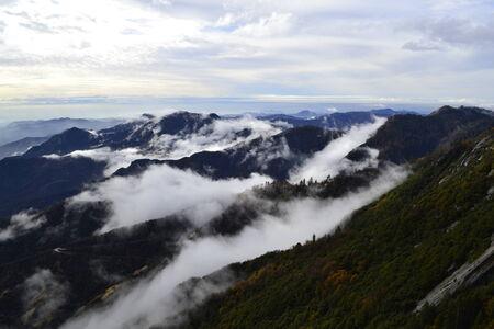 sierra: Clouds over Sierra Nevada Stock Photo