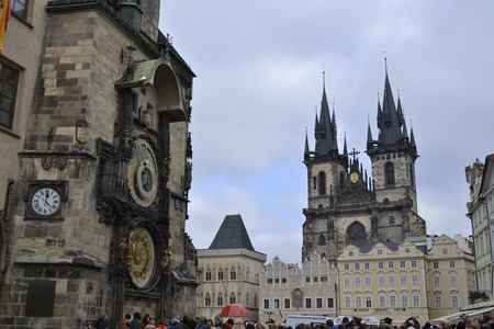 Pragues astronomical clock (Orloj) is the oldest one still functioning (1410). photo