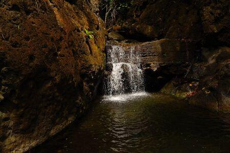 anton: Waterfall on a hike in San Anton