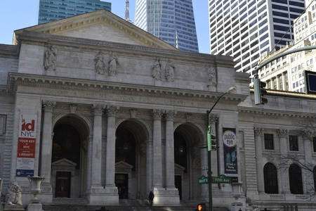 The NYC public library designed by Carr?re and Hastings was finished in 1911 to substitute then old the Astor and Lenox libraries photo