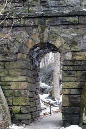 ramble: Ramble Stone Arch is located on the West side at 77th street and was built in 1920