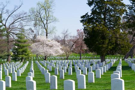 阿灵顿公墓是美国军人公墓,埋葬内战以来在国家冲突中牺牲的士兵。