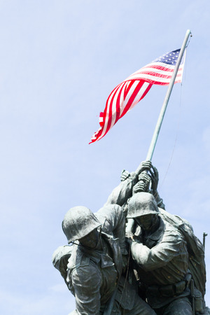 Marine Corps War Memorial commemorates all the United States Marine Corps who have died in the defense of the United States since 1775 Banque d'images