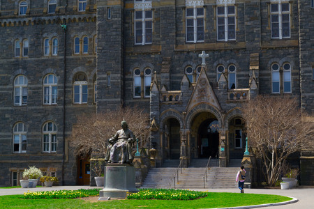georgetown: Georgetown University was founded by John Carrol in 1789 Editorial