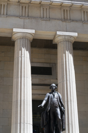 george washington statue: Federal Hall National Memorial was built in the 1700. In front of this building was G. Washington Inaguration as president.
