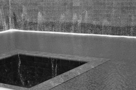 911 memorial are two fountains located in the former location of the twin towers Editorial