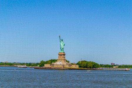 staten: Statue of Liberty from a ferry to Staten Island