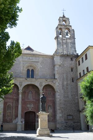 gravestones: Santo Domingo church was built in the early 1500 using gravestones from Muslims.