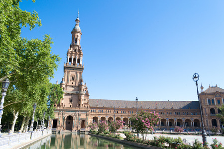 exposition: Plaza de Espaa Spain square built in 1928 for the Ibero-American Exposition of 1929