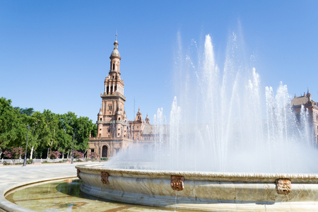 marmol: Plaza de Espaa Spain square built in 1928 for the Ibero-American Exposition of 1929