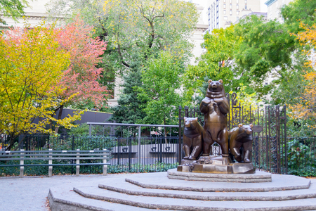 pat: Group of Bears statue situated in the Pat Hoffman Friedman Playground of Central Park