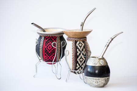 mate infusion: Empty calabash gourd used to drink used in Latin America to drink the caffeinated infusion call mate