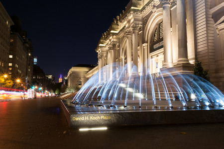 The David H Koch Plaza spans for the four city blocks the MET occupies and features two new fountains open to the public in 2014