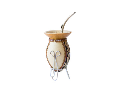 Empty calabash gourd used to drink used in Latin America to drink the caffeinated infusion call mate