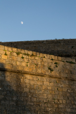 moon gate: Citadel of Pamplona constructed between XV and XVI centuries  as a defensive structure Stock Photo