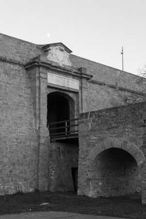 vigilance: Citadel of Pamplona constructed between XV and XVI centuries  as a defensive structure Stock Photo