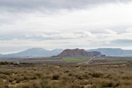 alluvial: Bardenas reales Stock Photo