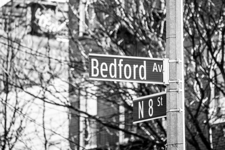 Street sign in Williamsburg (NYC)