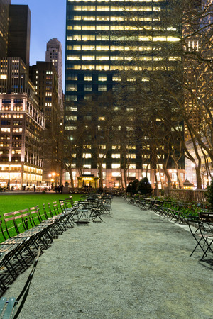 bryant park: Bryant Park is located in Manhattan (NYC) between 5th and 6th avenue and 42nd street Stock Photo
