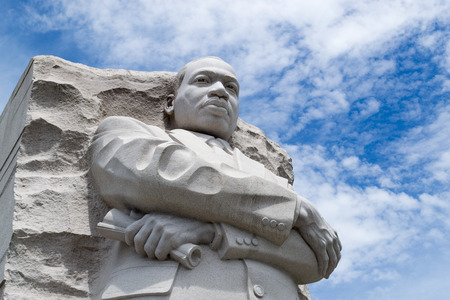 Statue in honor of Martin Luther King in Washington DC Editorial