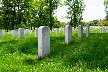 Arlington National Cemetery is the most iconic military cemetery in the US Banque d'images