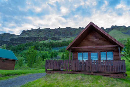 Wooden cabins in Iceland