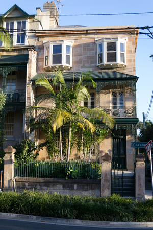 typical: Typical Victorian houses in Sydney