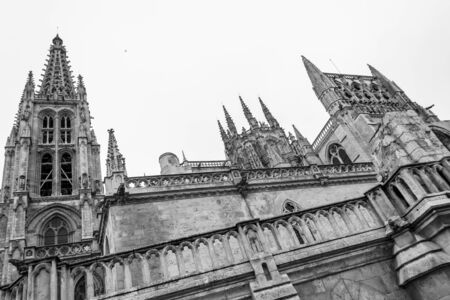castille: Burgos Cathedral was built in 1221 and declared was declared a World Heritage Site by UNESCO in 1984 Stock Photo