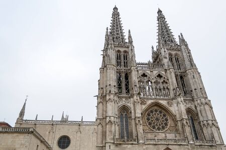 castille: Burgos Cathedral was built in 1221 Stock Photo