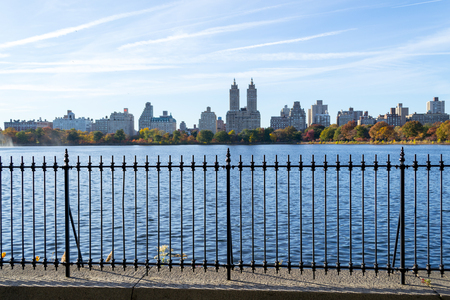 The views from the Jacqueline Kennedy Onassis reservoir is one of the main atractions of Central Park