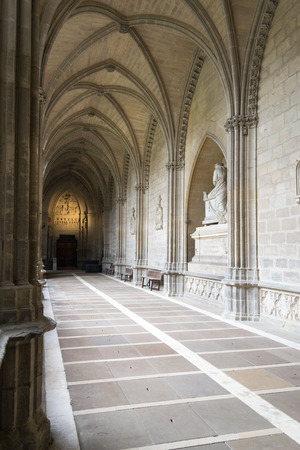 oration: The Gothic Cathedral of Royal Saint Mary in Pamplona dates from the 15th century