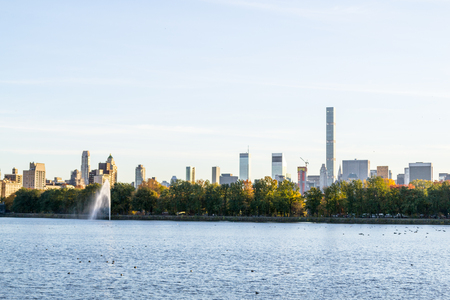 Midtown during the fall season from central park