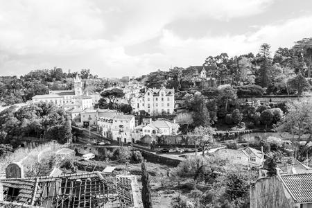 Sintra Municipal city center from the Palacion Nacional (Portugal)